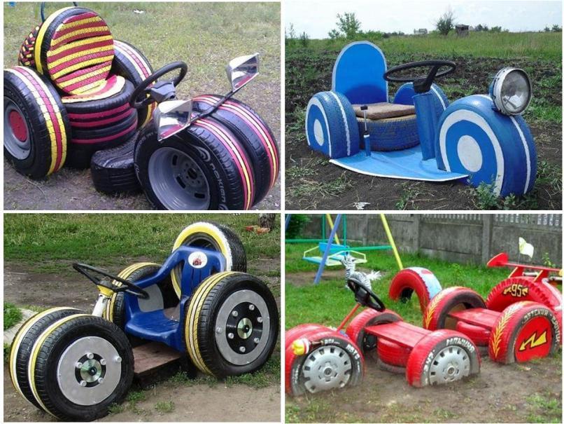 Колеса (шины). Поделки