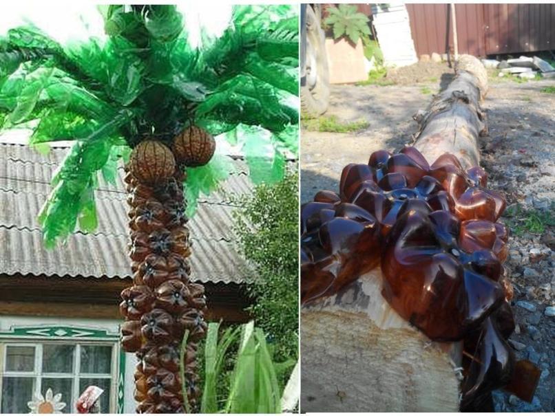 Пальмы из пластиковых бутылок своими руками пошагово