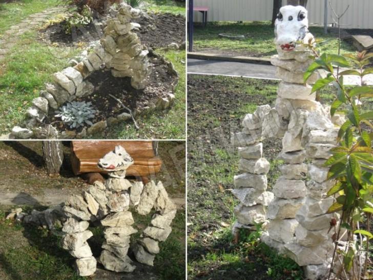 Фигуры из камня