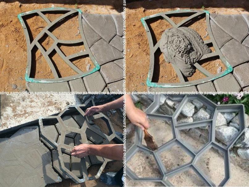 Как самому сделать формы для садовых дорожек  194