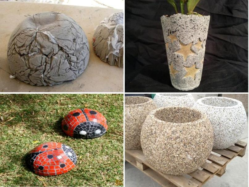 Что можно сделать для сада из цемента своими руками 6