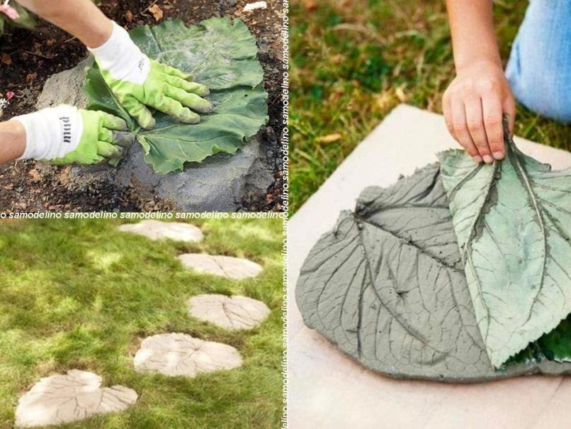 Садовая дорожка из листьев своими руками 48