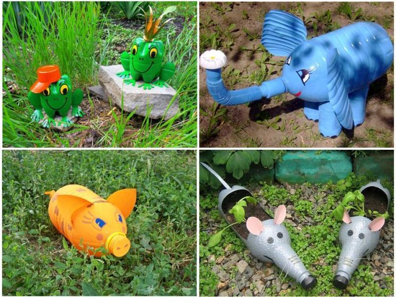 Фигурки для сада и огорода своими руками фото 31