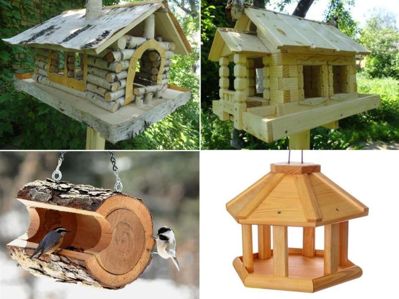 Кормушки для птиц деревянная своими руками оригинальные идеи