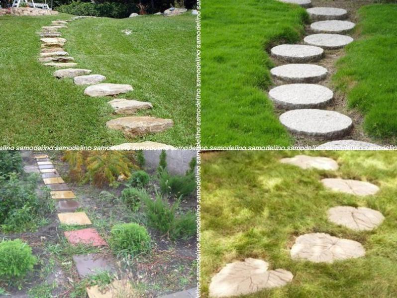Тротуары в саду своими руками 72