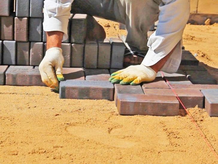 Укладка на песок