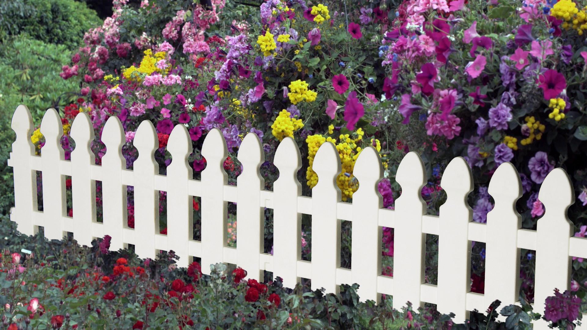 Декоративная оградка для клумб своими руками 96