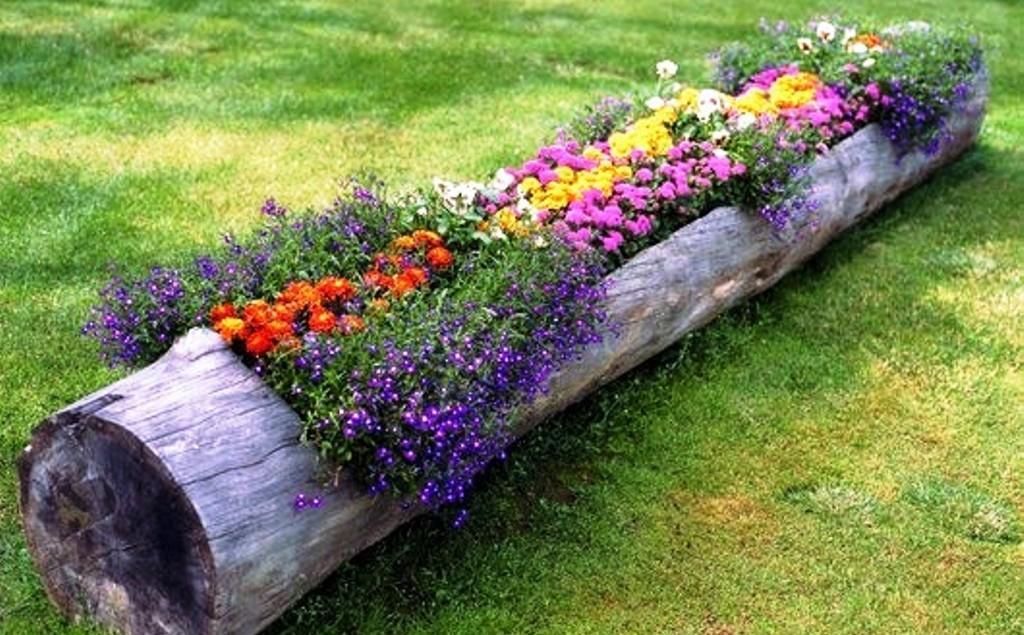 Клумбы и цветники своими руками из подручных материалов, фото
