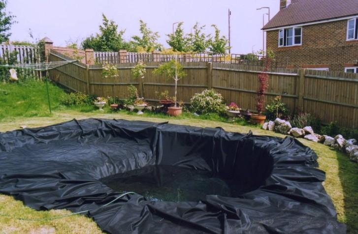 Заполнение пленочного водоема