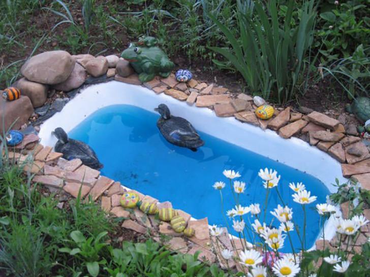 Прудик из ванны