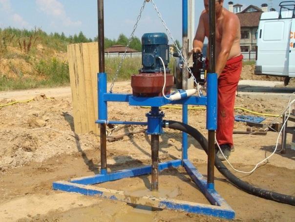 Как прокачать скважину от глины