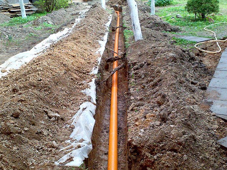Укладка внешней канализации