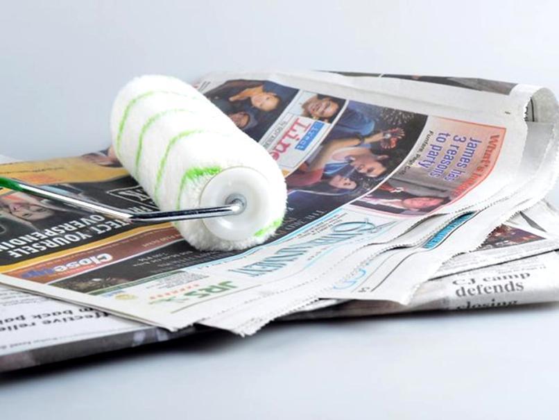 Очистка с применением газет