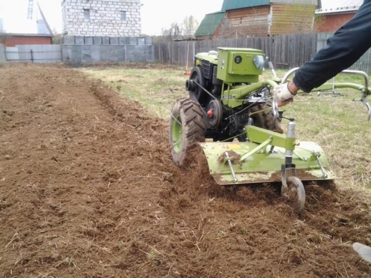 Мотоблок и огород