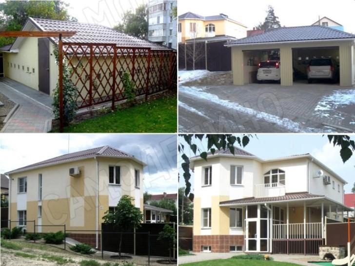 Дом и гараж на уклоне