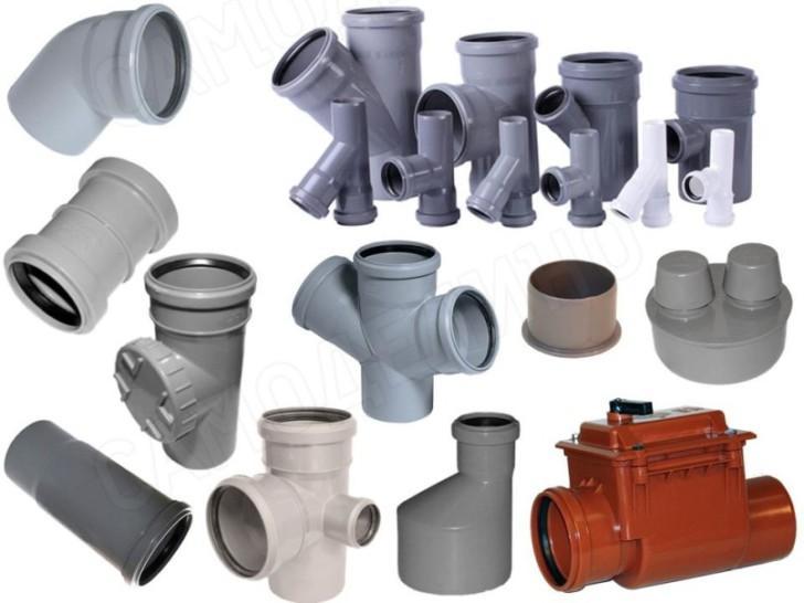 Основные канализационные фитинги