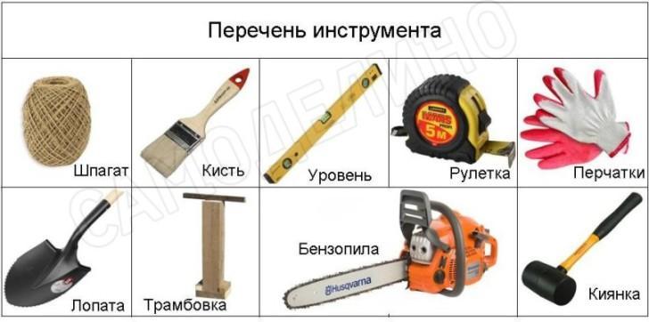 Инструменты для дорожки