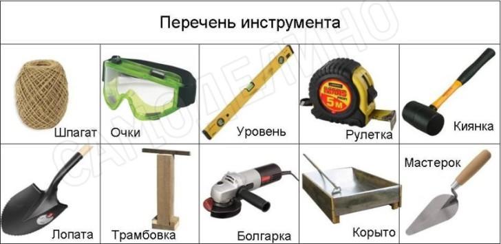 Инструмент установки бордюра