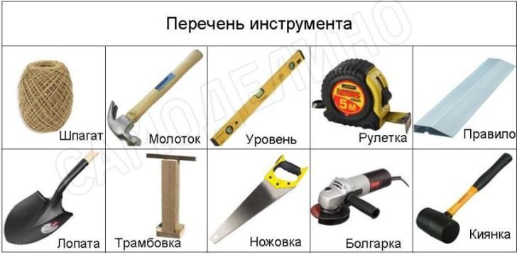 Инструмент кирпичной дорожки