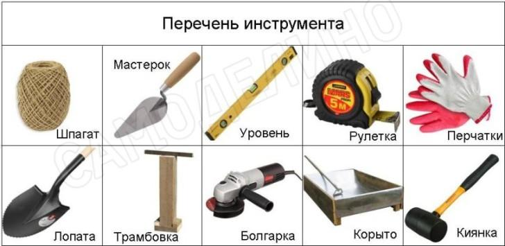 Инструмент для могтажа бордюра