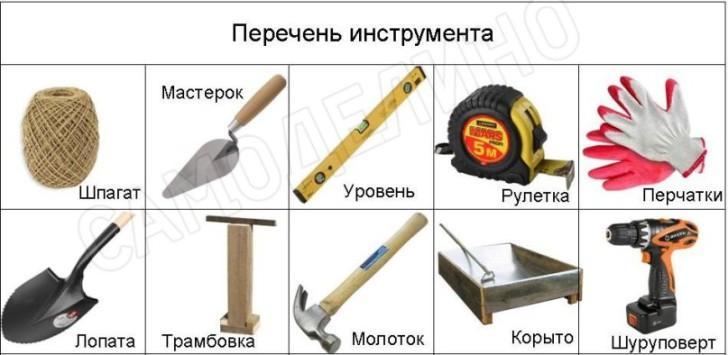 Инструмент для изготовления бордюра