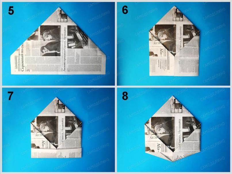 Kepka-iz-gazetyi-2 Как сделать пилотку 🤡 из бумаги своими руками
