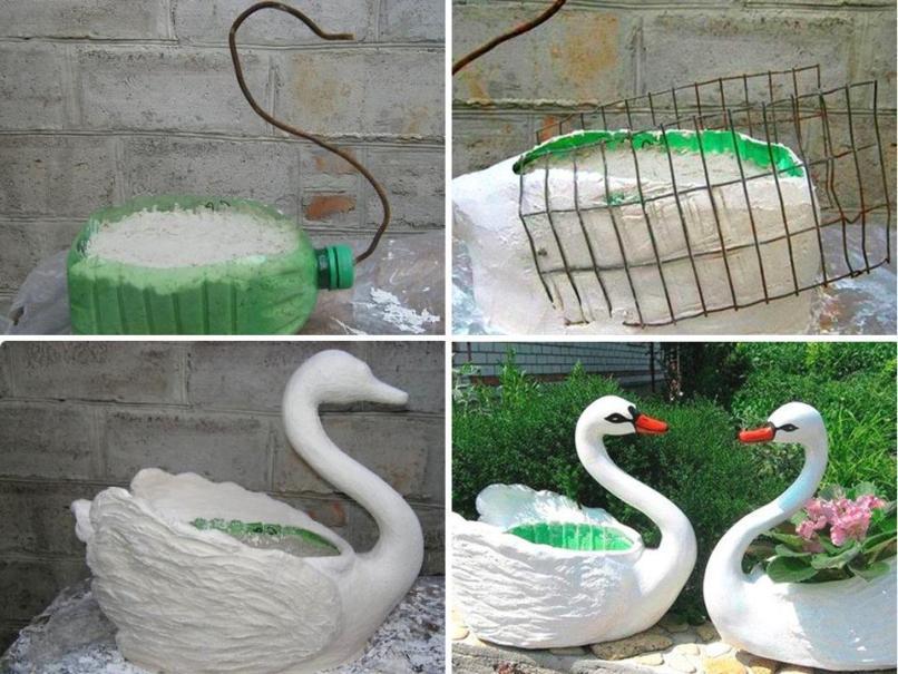 Картинки по запросу лебедь из гипса своими руками