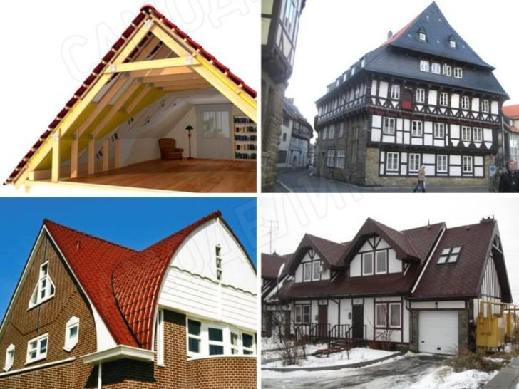 Крыши мансардного типа
