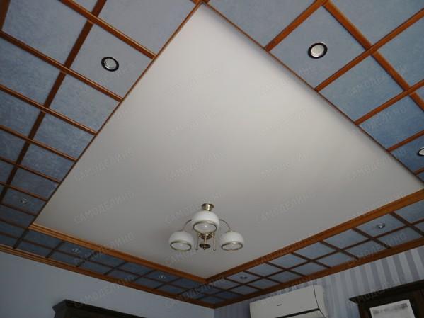 Потолок с драпировкой из ткани своими руками фото 575