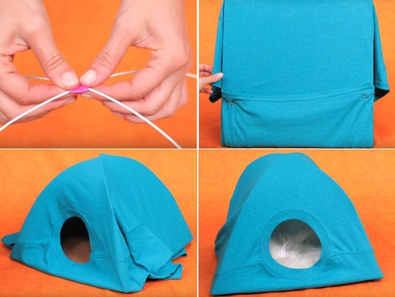 Домик для кошек своими руками способы создания уютного места