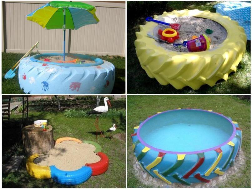 Песочницы и бассейн
