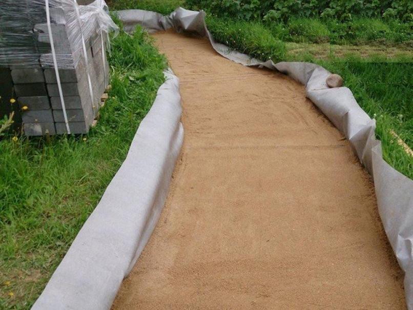 Подложка из песка