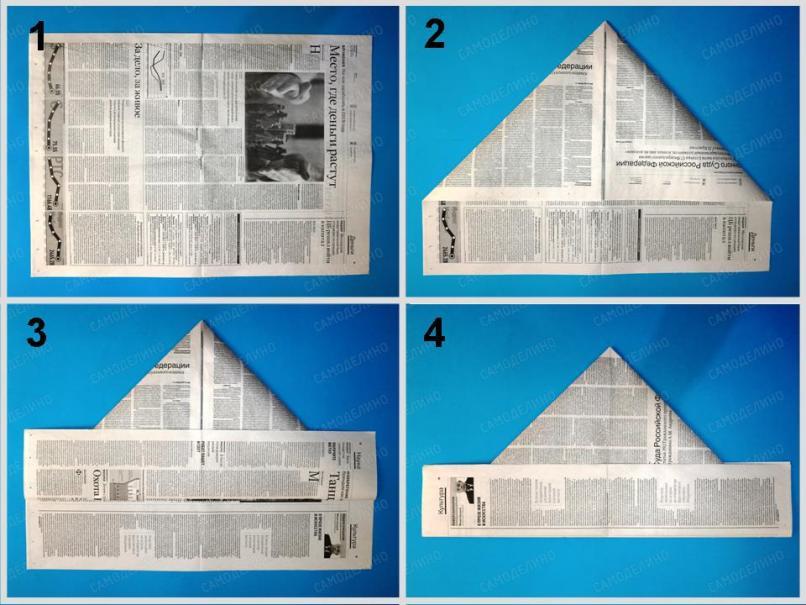 Pilotka-ot-solntsa-1 Как сделать пилотку 🤡 из бумаги своими руками