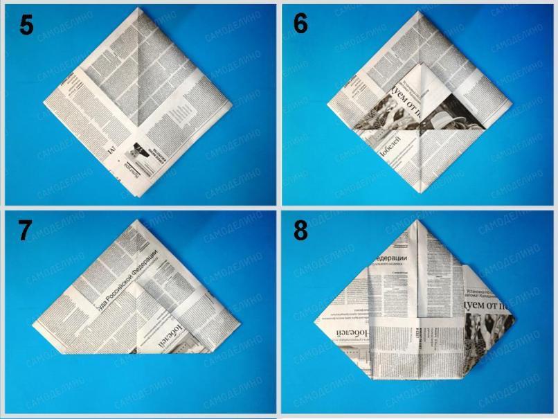 Pilotka-ot-solntsa-2 Как сделать пилотку 🤡 из бумаги своими руками