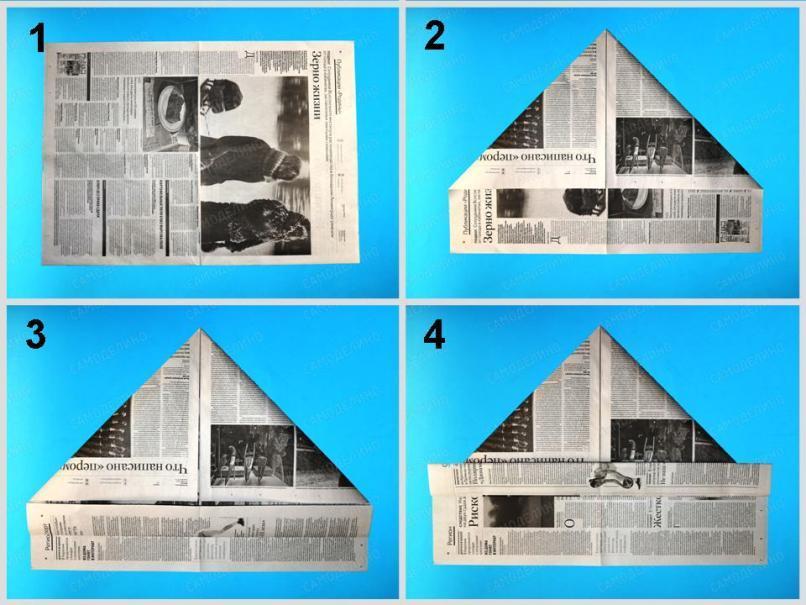 Pilotka-styuardessyi-1 Как сделать пилотку 🤡 из бумаги своими руками