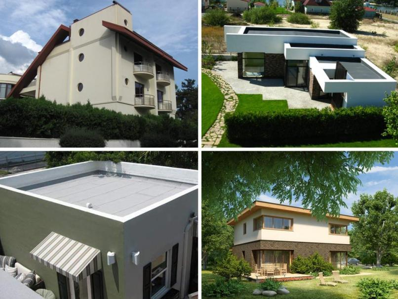 Примеры плоских крыш