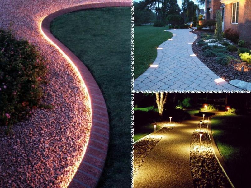 Элементы подсветки на тропинках