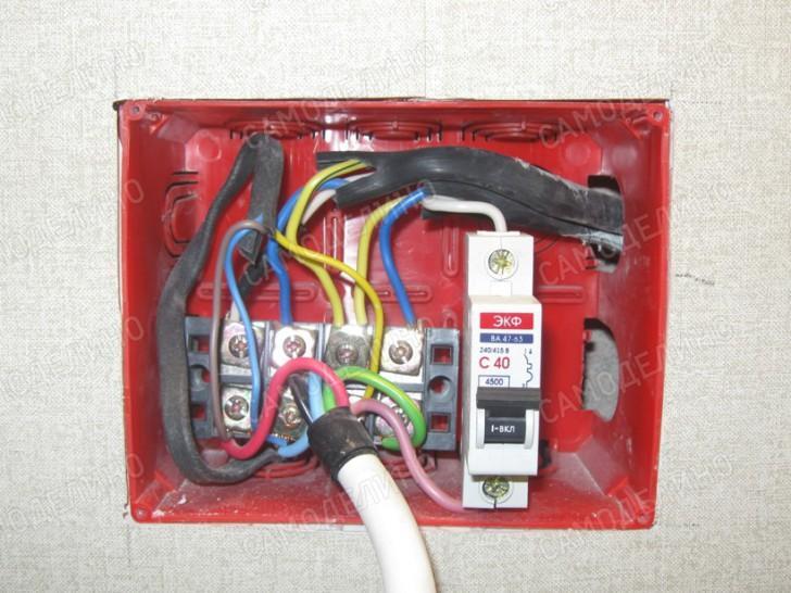Подключение кабеля стабилизатора