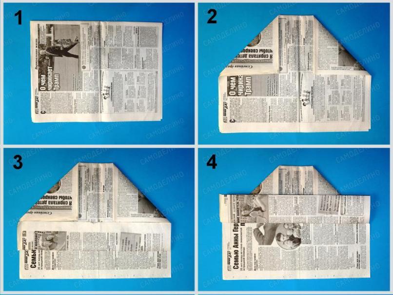 SHapka-malyara-1 Как сделать пилотку 🤡 из бумаги своими руками