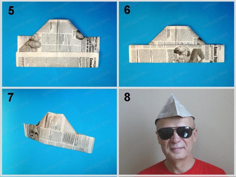 SHapka-malyara-2 Как сделать пилотку 🤡 из бумаги своими руками