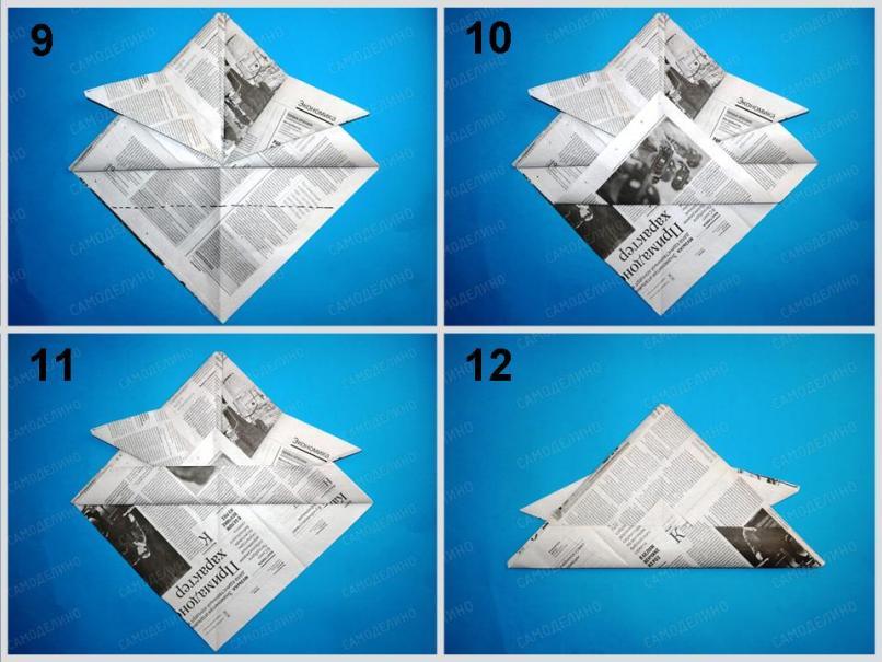 SHlem-iz-gazetyi-3 Как сделать пилотку 🤡 из бумаги своими руками