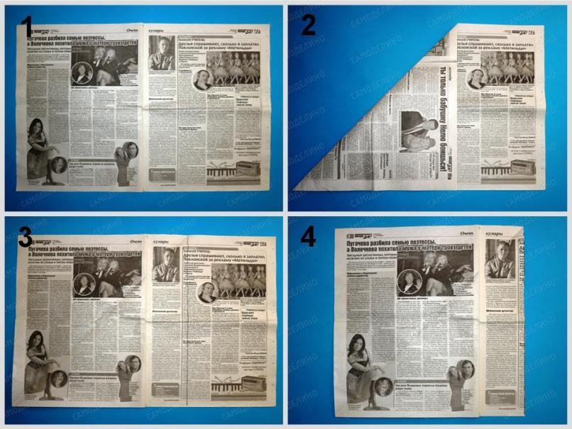 SHlyapa-iz-gazetyi-1 Как сделать пилотку 🤡 из бумаги своими руками