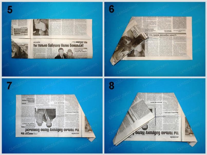 SHlyapa-iz-gazetyi-2 Как сделать пилотку 🤡 из бумаги своими руками