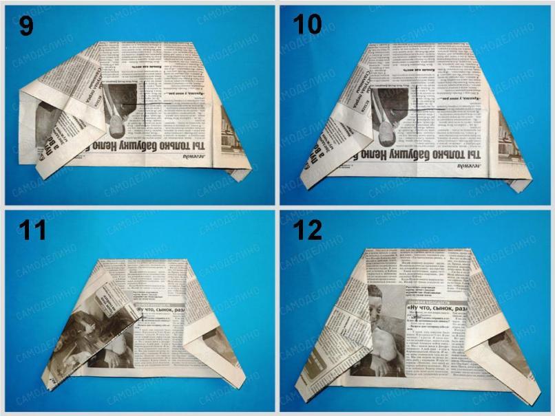 SHlyapa-iz-gazetyi-3 Как сделать пилотку 🤡 из бумаги своими руками