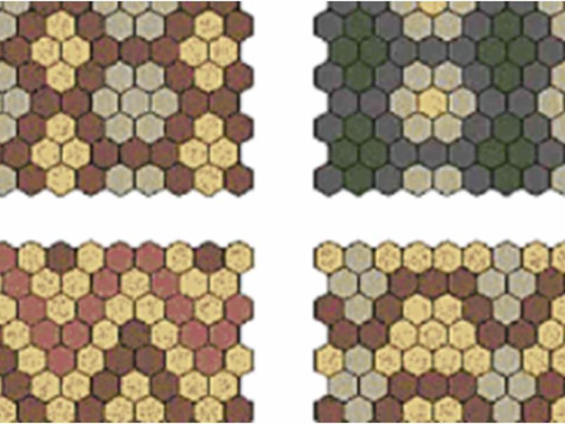 Схемы раскладки шестигранника