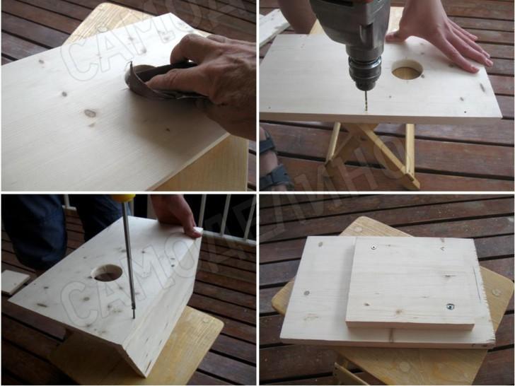 Скворечник из бумаги своими руками шаблоны фото 441
