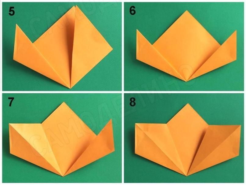 Поделки из белой бумаги поэтапно