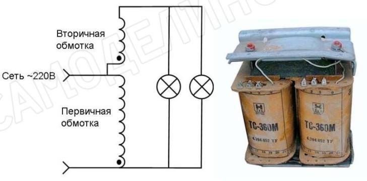 Схема и трансформатор