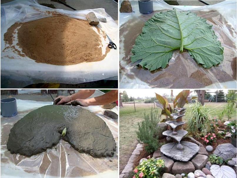 Поделки из бетона для сада своими руками мастер класс фото
