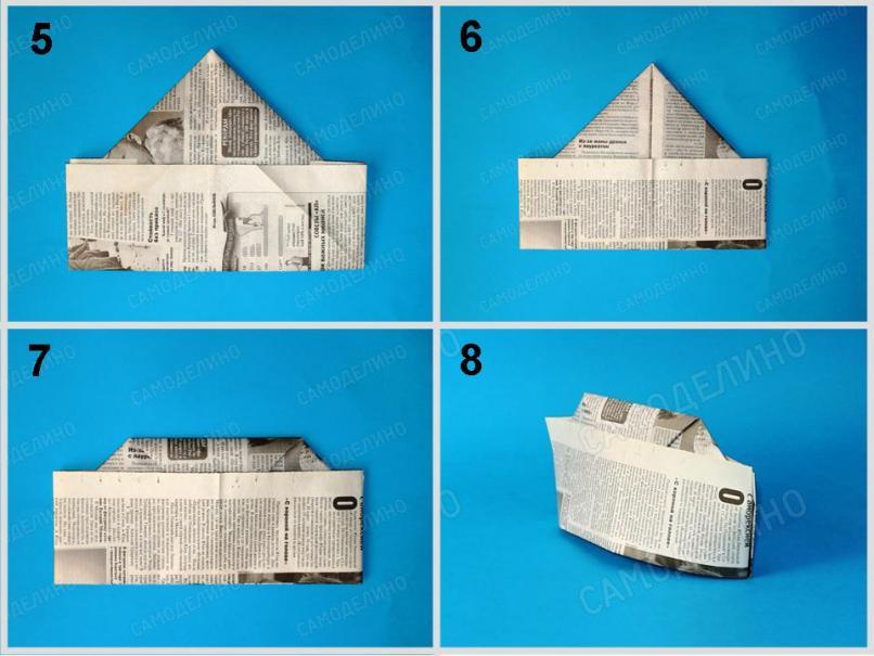 Voennaya-pilotka-2 Как сделать пилотку 🤡 из бумаги своими руками